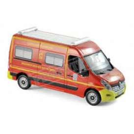 Renault  - Master Pompiers *VSAV* 2014 red/yellow - 1:43 - Norev - nor518785 | Tom's Modelauto's