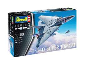 Grumman Aerospace  - F-14D Super Tomcat  - 1:100 - Revell - Germany - 63950 - revell63950 | Tom's Modelauto's