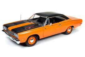 Plymouth  - Road Runner 1969 orange/black - 1:18 - Auto World - AMM1131 | Tom's Modelauto's