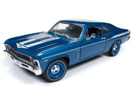 Chevrolet  - Nova Yenko Coupe 1969 Lemans blue - 1:18 - Auto World - AMM1135 | Tom's Modelauto's