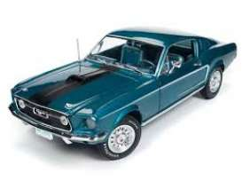 Ford  - Mustang 2+2 1968 gulfstream - 1:18 - Auto World - AMM1132 | Tom's Modelauto's