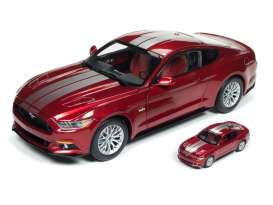 Ford  - Mustang GT 2017 red/grey - 1:18 - Auto World - AW245 - AW245 | Tom's Modelauto's