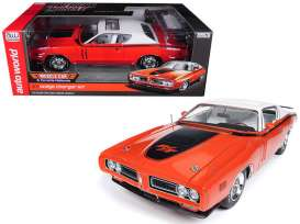 Dodge  - Charger R/T Hardtop 1971 orange/white - 1:18 - Auto World - amm1148 - AMM1148 | Toms Modelautos