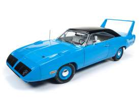 Plymouth  - Superbird 1970 petty blue - 1:18 - Auto World - AMM1137 | Tom's Modelauto's