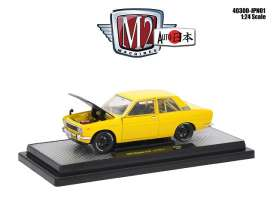 Datsun  - 510 1970 yellow/black - 1:24 - M2 Machines - M2-40300jpn01B | Tom's Modelauto's