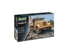 Military Vehicles  - Sd.Kfz.7 (late Production)  - 1:72 - Revell - Germany - revell03263 | Tom's Modelauto's