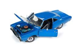 Plymouth  - 1968 blue/black - 1:18 - Auto World - AMM1125 | Tom's Modelauto's