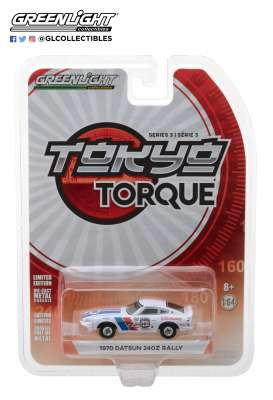 Datsun  - 240Z 1970 white/red/blue - 1:64 - GreenLight - 47010B - gl47010B | Tom's Modelauto's