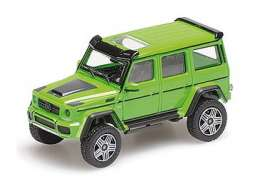Brabus Mercedes Benz - 4x4² 2016 green - 1:87 - Minichamps - 870037202 - mc870037202 | Toms Modelautos