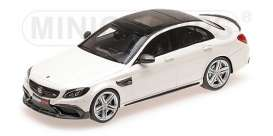 Brabus Mercedes Benz - 600 2015 white - 1:87 - Minichamps - 870038602 - mc870038602 | Toms Modelautos