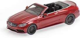Mercedes Benz  - AMG C63 2016 red - 1:87 - Minichamps - 870037032 - mc870037032 | Toms Modelautos