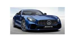 Mercedes Benz  - AMG GT-R 2017 blue - 1:87 - Minichamps - 870037221 - mc870037221 | Tom's Modelauto's