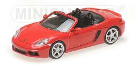 Porsche  - 718 Boxter 2016 red - 1:87 - Minichamps - 870065130 - mc870065130 | Tom's Modelauto's