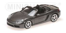 Porsche  - 718 Boxter 2016 grey - 1:87 - Minichamps - 870065131 - mc870065131 | Tom's Modelauto's