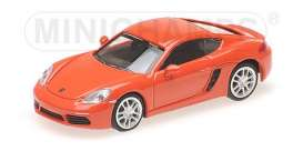 Porsche  - 718 Cayman 2016 orange - 1:87 - Minichamps - 870065221 - mc870065221 | Toms Modelautos