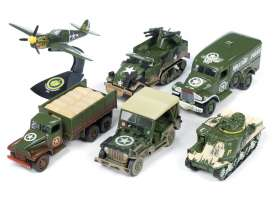 Assortment/ Mix  - army green - 1:64 - Auto World - ML001B - AWML001B | Toms Modelautos