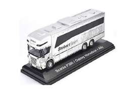 Scania  - Horsebox white - 1:76 - Magazine Models - magSTOjv9111 | Tom's Modelauto's