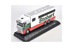 Scania  - Horsebox green/red/white - 1:76 - Magazine Models - STOjv9108 - magSTOjv9108 | Tom's Modelauto's