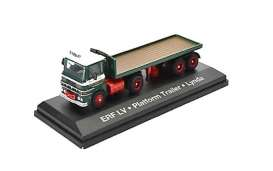 ERF  - LV Flatbed green/red - 1:76 - Magazine Models - STOjv9123 - magSTOjv9123 | Tom's Modelauto's