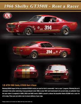 Shelby  - GT 350H 1966 red/gold - 1:18 - Acme Diecast - acme1801823 | Tom's Modelauto's