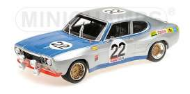Ford  - RS 2600 1971 silver/blue - 1:18 - Minichamps - 155718522 - mc155718522 | Tom's Modelauto's