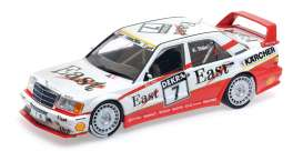 Mercedes Benz  - 190E 1991 white/red - 1:18 - Minichamps - mc155913607 | Tom's Modelauto's