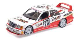 Mercedes Benz  - 190E 1991 white/red - 1:18 - Minichamps - 155913678 - mc155913678 | Tom's Modelauto's