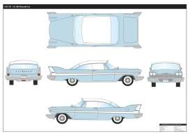 Plymouth  - Fury 1958 light blue/white - 1:18 - Motor Max - 73115b - mmax73115b | Tom's Modelauto's