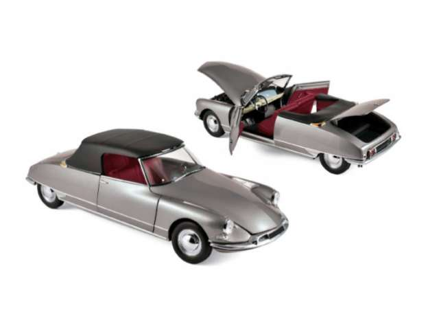 1:18 Norev Citroen DS 19 Cabriolet 1961 pearl grey NEW bei PREMIUM-MODELCARS