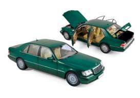 Mercedes Benz  - S600 1997 green - 1:18 - Norev - nor183593 | Tom's Modelauto's