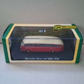 Mercedes Benz  - LOP 3500 1935 red/white - 1:72 - Magazine Models - BUS7163126 - magBUS7163126 | Tom's Modelauto's