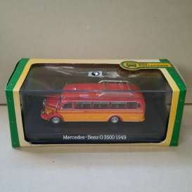 Mercedes Benz  - O 3500 1949 red/orange - 1:72 - Magazine Models - magBUS7163136 | Tom's Modelauto's