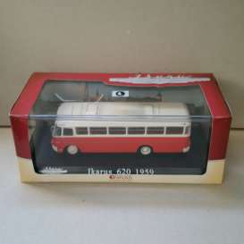 Ikarus  - 620 1959 red/white - 1:72 - Magazine Models - BUS3570006 - magBUS3570006 | Tom's Modelauto's