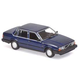 Volvo  - 740 GL 1986 dark blue - 1:18 - Minichamps - 155171701 - mc155171701 | Toms Modelautos