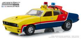 Ford  - XB Falcon V8 Interceptor 1973 yellow/blue/red - 1:18 - GreenLight - 18012 - gl18012 | Tom's Modelauto's