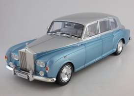 Rolls Royce  - light blue/silver - 1:18 - Kyosho - 8905lbs - kyo8905lbs | Toms Modelautos
