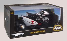 Batman  - 1966 black/white - 1:12 - Hotwheels Elite - mvr0006 - hwmvr0006 | Tom's Modelauto's