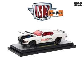 Ford  - Mustang Boss 429 1970 white/red - 1:24 - M2 Machines - M2-40300-62A | Tom's Modelauto's