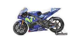 Yamaha  - 2017 blue - 1:12 - Minichamps - 122173246 - mc122173246 | Tom's Modelauto's
