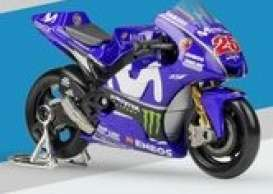 Yamaha  - YZR-M1 2017 blue/green - 1:18 - Minichamps - 182173025 - mc182173025 | Tom's Modelauto's