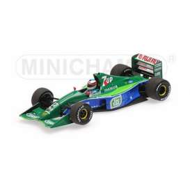 Jordan Ford - 191 1991 green/blue - 1:43 - Minichamps - 510914301 - mc510914301 | Tom's Modelauto's