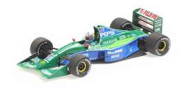 Jordan Ford - 191 1991 blue/green - 1:43 - Minichamps - mc410910332 | Tom's Modelauto's