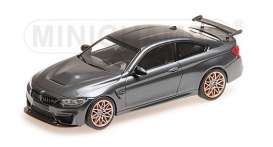 BMW  - M4 GTS 2016 grey/orange wheels - 1:43 - Minichamps - 410025228 - mc410025228 | Tom's Modelauto's