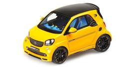 Smart Brabus - 2017 yellow - 1:43 - Minichamps - 437036260 - mc437036260 | Toms Modelautos