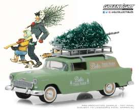 Chevrolet  - Sedan Delivery 1955 green - 1:64 - GreenLight - 37150B - gl37150B | Tom's Modelauto's