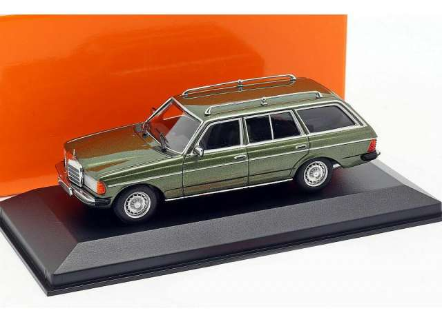 W123 230Te Green Metallic 1982 MINICHAMPS 1:43 940032210 Model Mercedes Benz