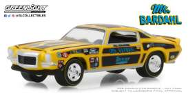 Chevrolet  - Camaro Mr. Bardahl 1967 yellow/black - 1:64 - GreenLight - 29989 - gl29989 | Tom's Modelauto's