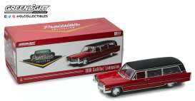 Cadillac  - S & S Limousine 1966 red/black - 1:18 - GreenLight Precision Collection - pc18008 - GLPC18008 | Tom's Modelauto's