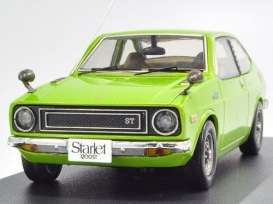 Toyota  - Starlet 1200SR 1973 light green - 1:43 - IXO Models - KB1058 - ixKB1058 | Toms Modelautos