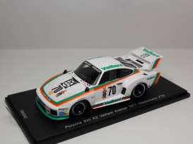 Porsche  - 935 K2 1977 white/green/orange - 1:43 - Spark - KBS052 - spaS052 | Tom's Modelauto's